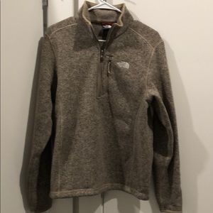 North face 1/4 zip pullover.